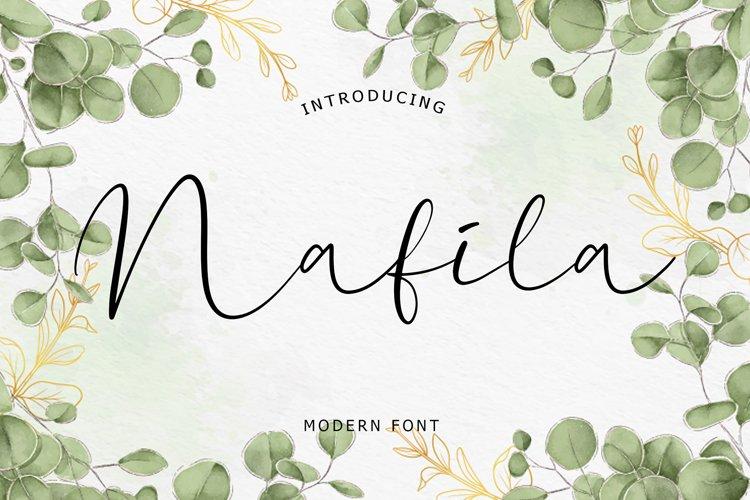 Nafila Modern Font example image 1