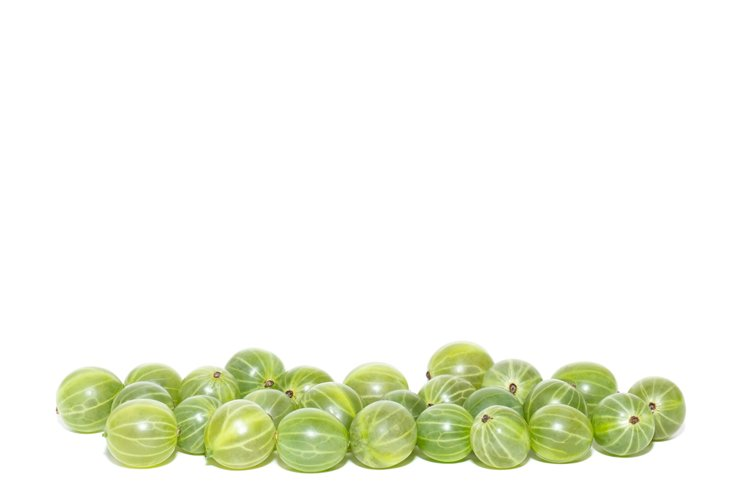Gooseberries on a white background example image 1