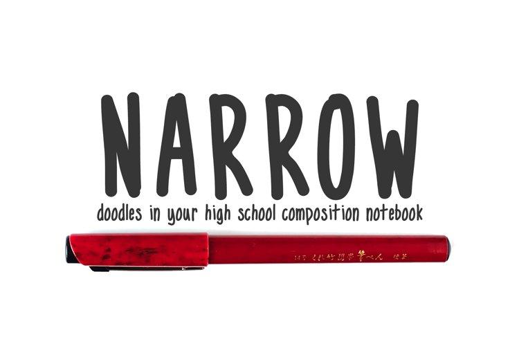 Narrow - handwritten doodles in your notebook example image 1