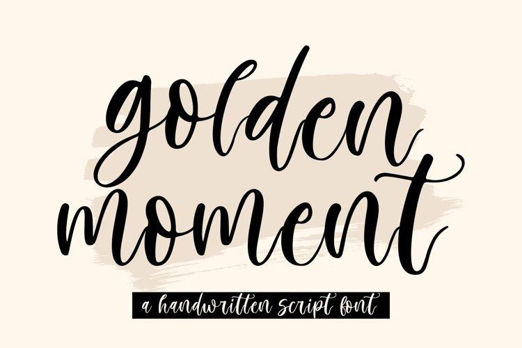 Golden Moment | Handwritten Script example image 1