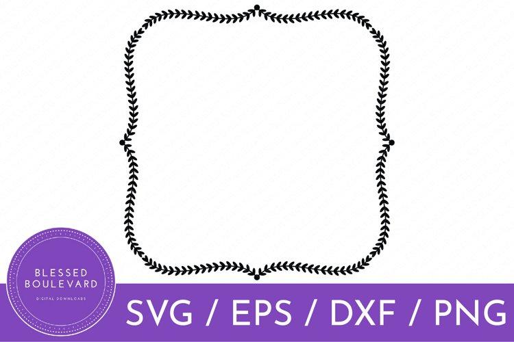 Farmhouse Wreath SVG File | Decorative Boarder SVG Design
