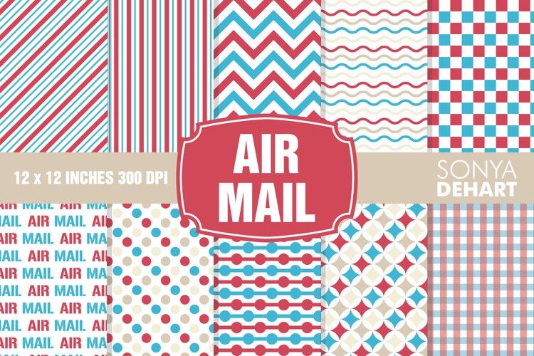 Air Mail Postal Digital Paper Pattern Pack
