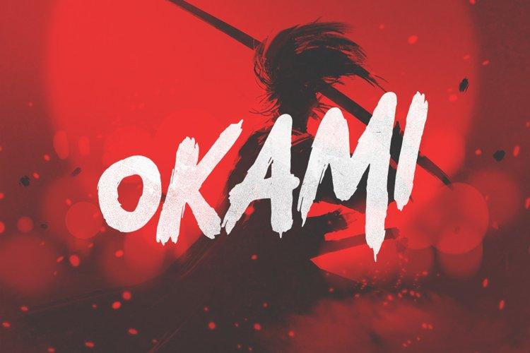 Okami - Brush Font example image 1