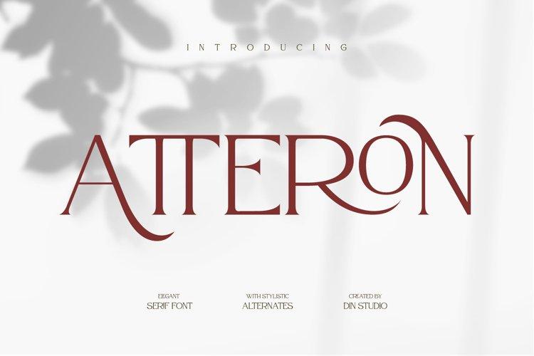 Atteron-Elegant Serif Font example image 1