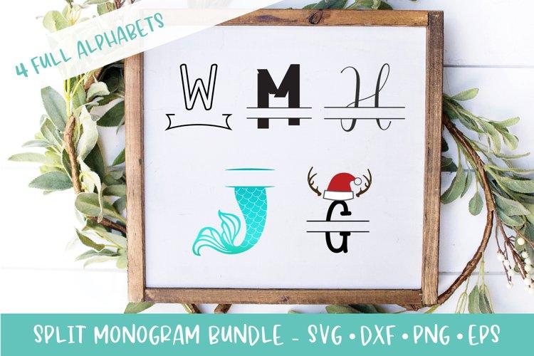 Split Monogram SVG Bundle