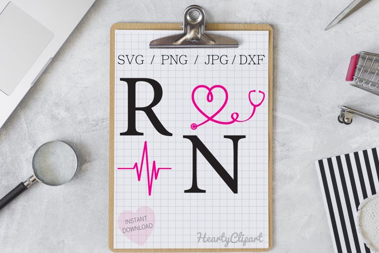 registered nurse svg , cutting files example image 1