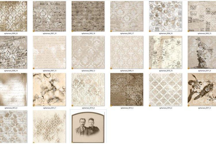 Sepia Ephemera Digital Paper - Free Design of The Week Design0