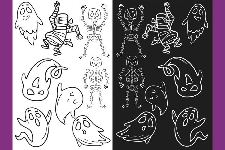 Halloween CLIPART, Fall clipart, Pumpkin clipart, PNG files example 4