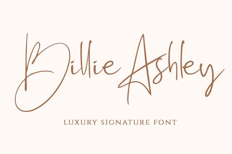 Billie Ashley - a Script Handwritten Font example image 1