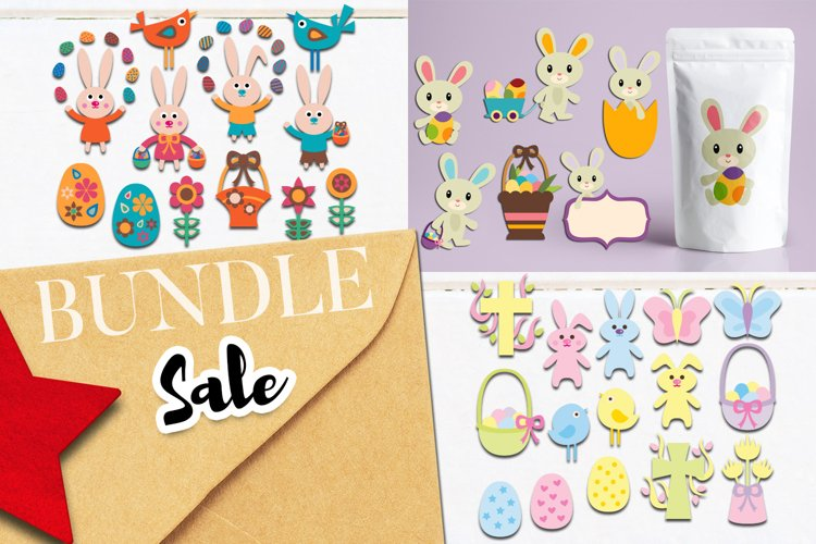 Easter bunny illustrations bundle