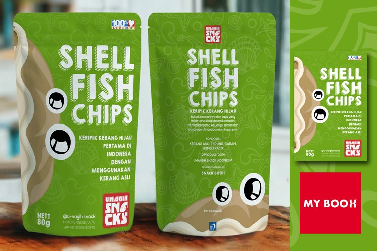 snack packaging design shell fish example image 1