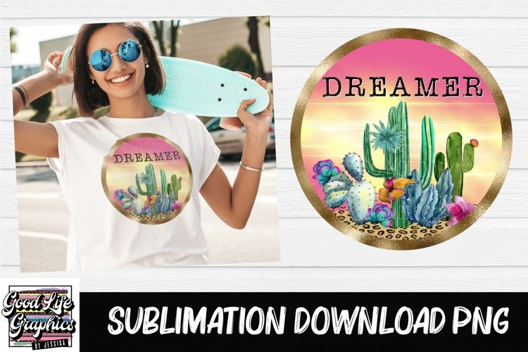 Sublimation designs for tshirts-cactus dreamer-PNG