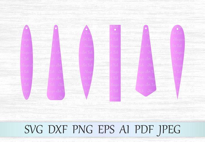 Earrings svg file, Rectangle earring svg, Bar drop svg file, Long pendant svg, Long fringe earrings, Leather earrings, Earrings laser cut example image 1