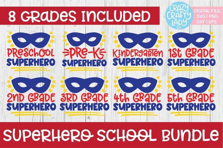 Superhero School SVG DXF EPS PNG Cut File Bundle