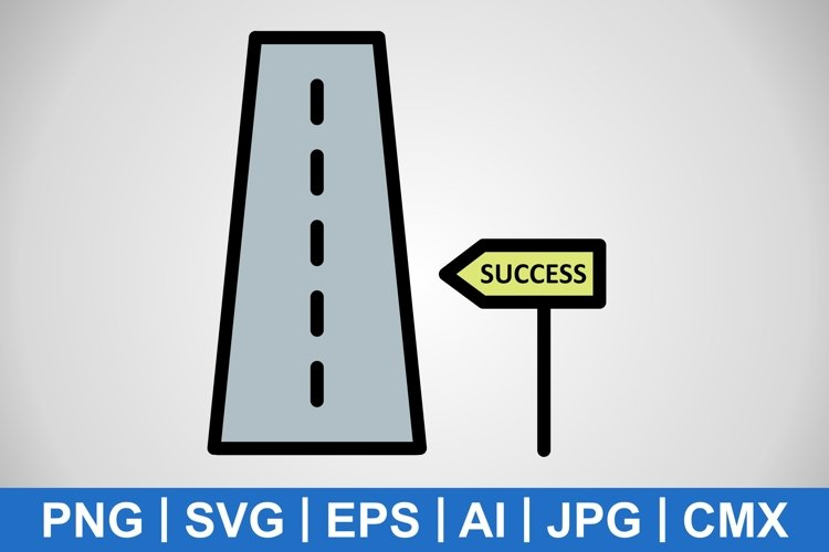 Vector Road to success Icon example image 1