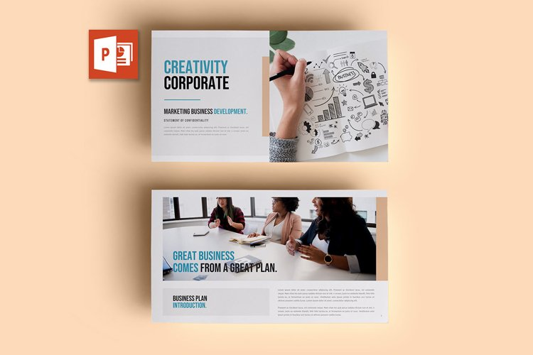 PPT Template | Business Plan - Creativity Corporate example image 1