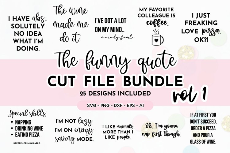 Funny Quote SVG Bundle | Volume One | Funny SVG Designs example image 1