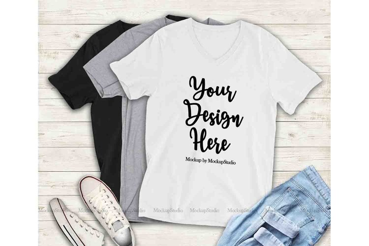 Multiple Color T-Shirts Mockup, Bella Canvas 3005 Shirt example image 1