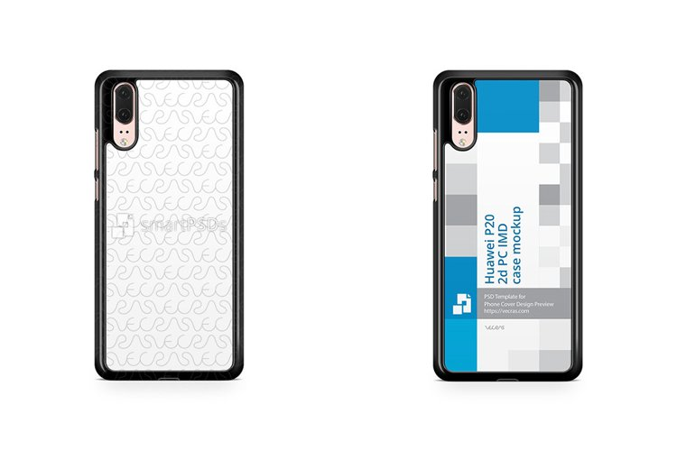 Huawei P20 2d PC Colored Case Design Mockup 2018 example image 1