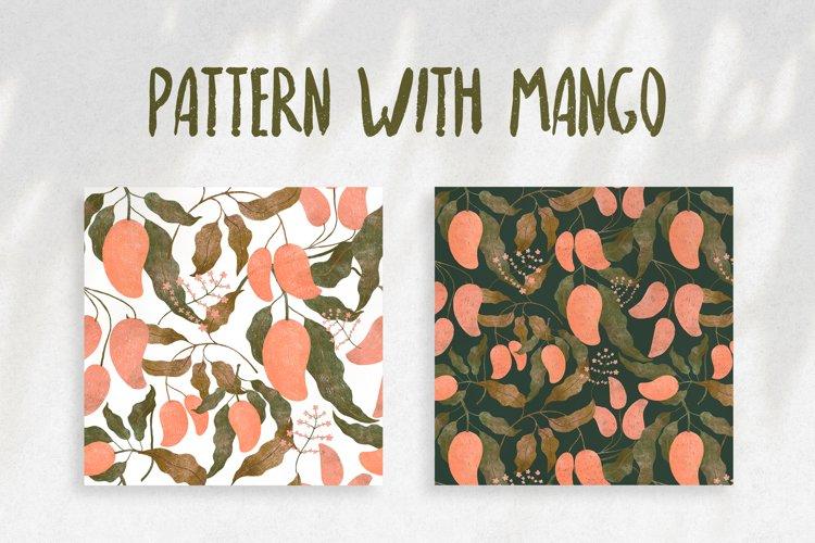 Pattern with mango example image 1