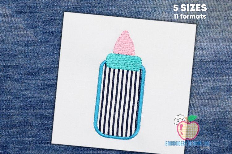 Baby Feeding Bottle Embroidery Design example image 1