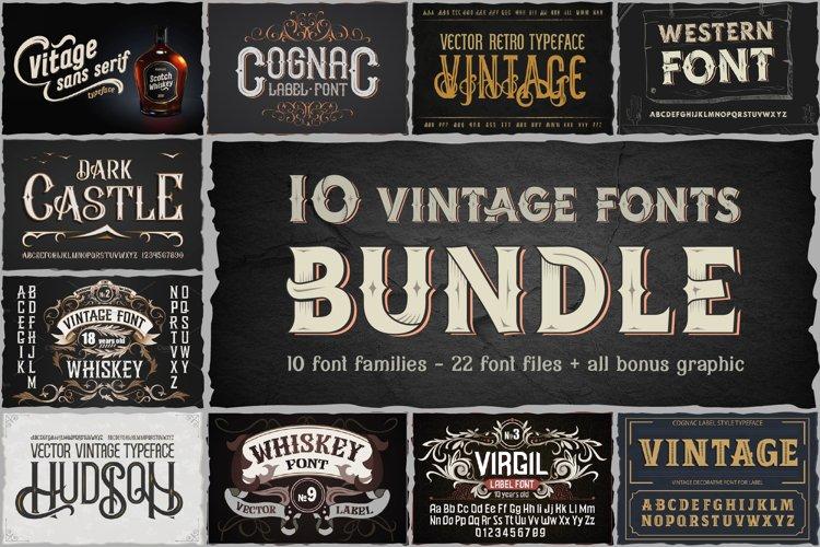 10 Vintage Font Families Bundle
