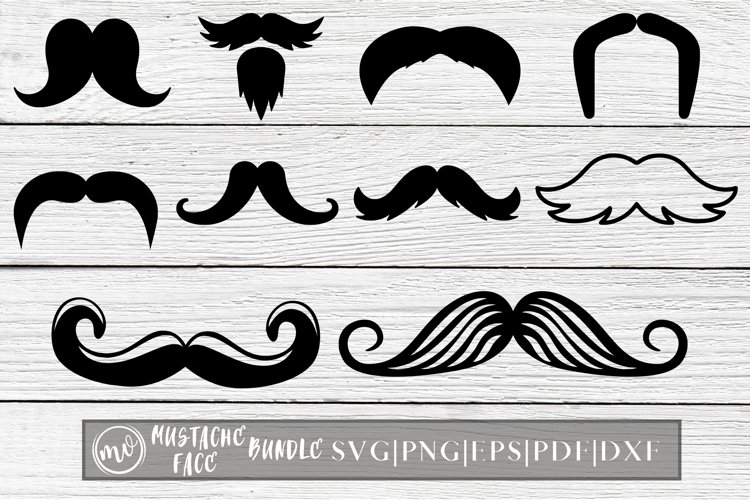 Mustache Face Mask SVG Designs - 10 example image 1