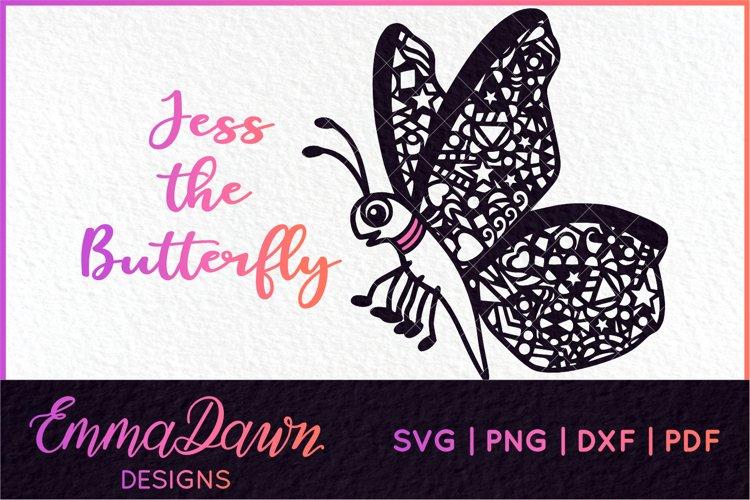 JESS THE BUTTERFLY SVG MANDALA / ZENTANGLE DESIGN example image 1