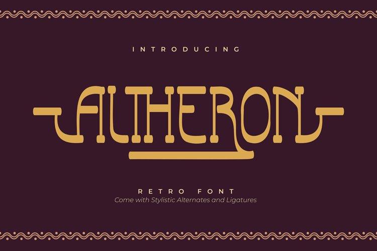 Altheron | Retro Serif Font example image 1