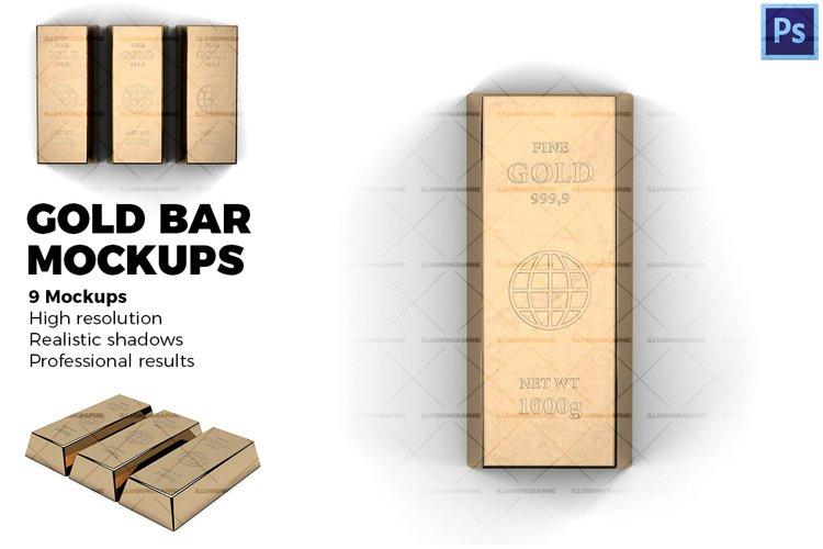 Gold bar - Mockups example image 1