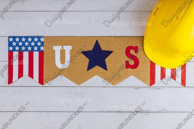 Happy federal holiday Labor day construction yellow helmet example image 1