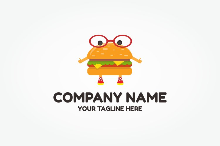 Burger Character Logo example image 1
