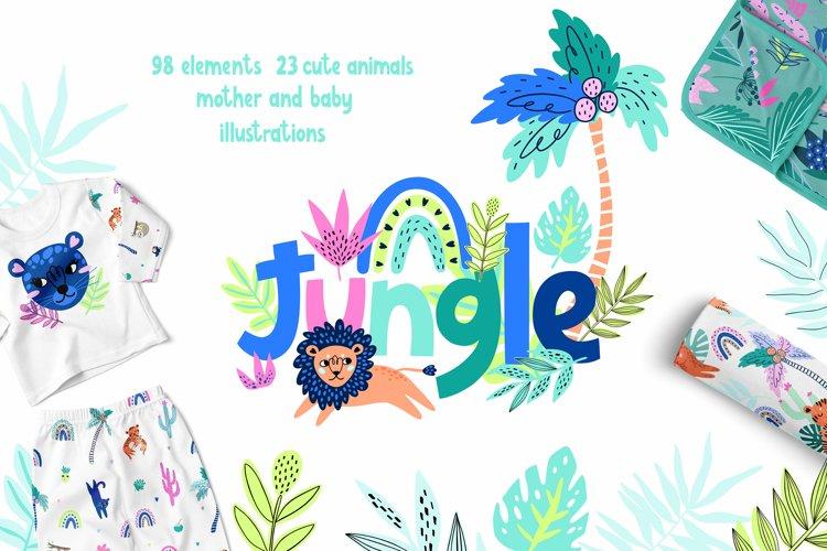 Nursery Art Jungle Animals Illustrations Patters & More Bund example image 1