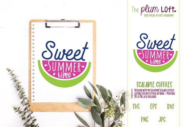 Sweet Summertime - Watermelon - SVG Design example image 1