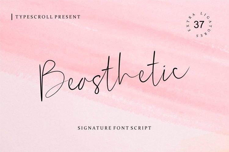 Beasthetic // a Signature Font Script example image 1