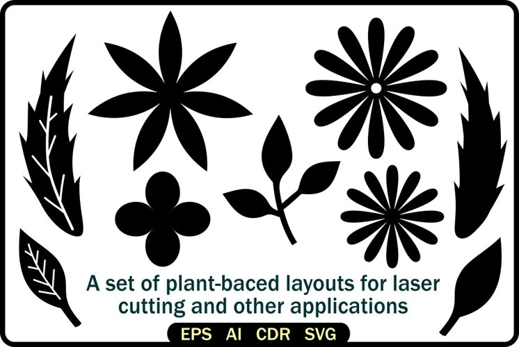 A set of plant-baced layouts example image 1