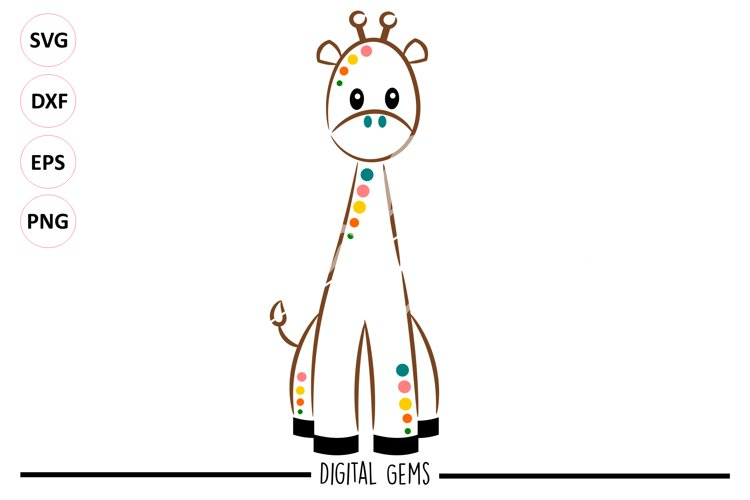 Giraffe SVG / PNG / EPS / DXF files example image 1