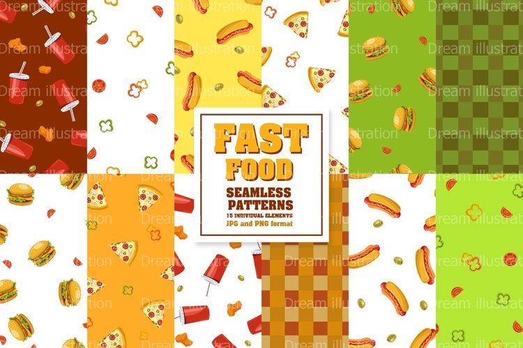Collection Set of fast food