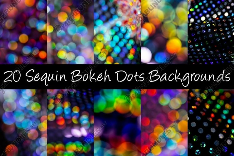 20 Sequin Bokeh Shiny Dots and Spots Background example image 1