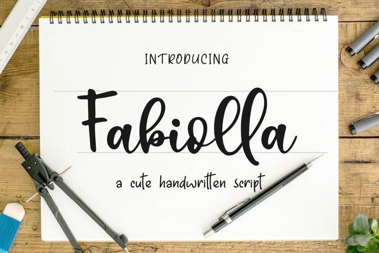 Fabiolla a Cute Handwritten Script example image 1