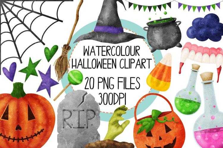 Watercolor Halloween Clip Art Set 2