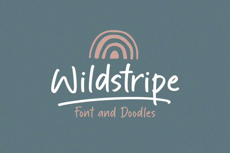 Wildstripe | Font and Doodles example image 1