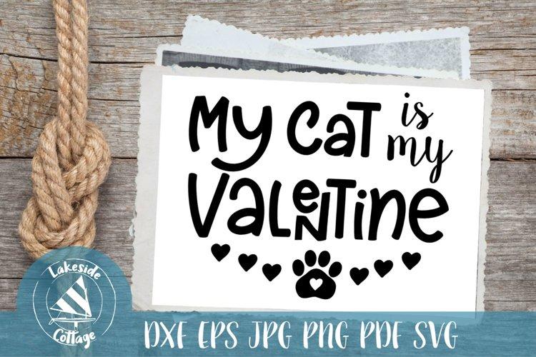 Download My Cat Is My Valentine Valentine S Day Svg 189304 Svgs Design Bundles