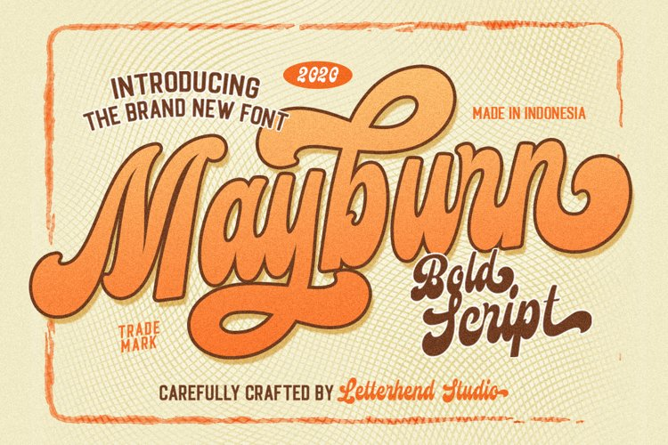 Mayburn - Bold Script example image 1