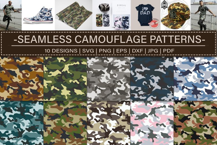 Seamless Camouflage Patterns Bundle example image 1