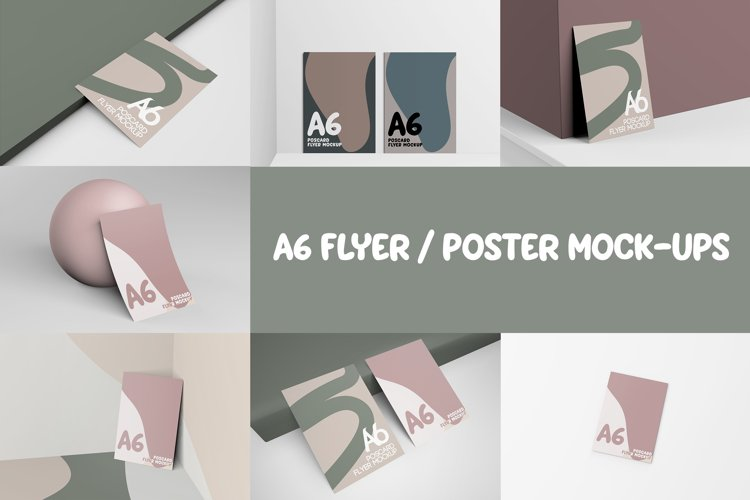 A6 FLYER / POSTER MOCKUPS example image 1