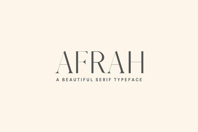 Afrah Serif Font Family Pack example image 1