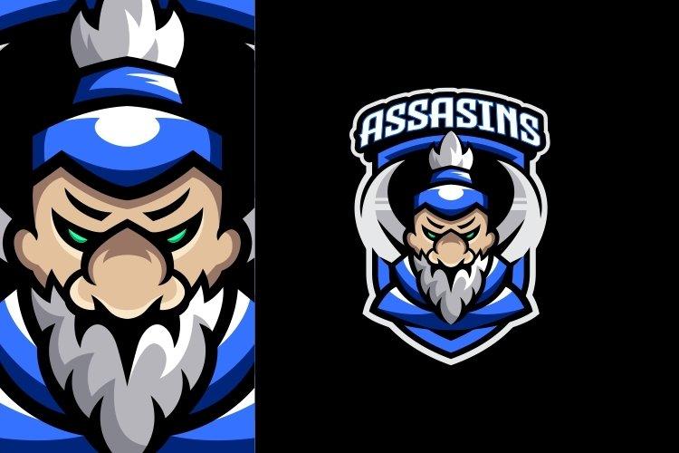 Ninja Mascot E Sport Logo Design example image 1
