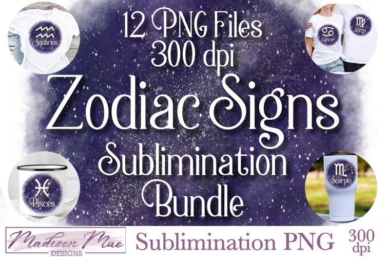 Zodiac Signs Sublimination Bundle - 12 PNG Files example image 1