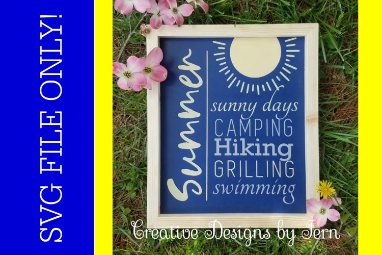 Summer sunny days SVG FILE example image 1